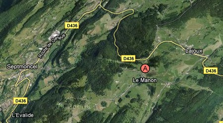 Plan Hôtel Le Manon Septmoncel Jura